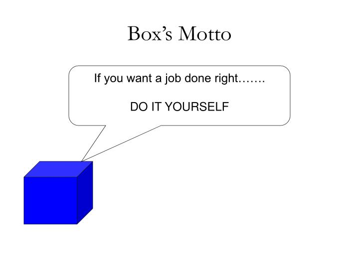 Box's Motto