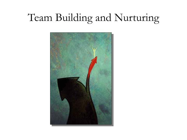 Team building and nurturing