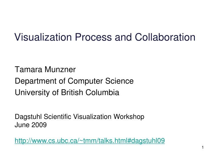 visualization process and collaboration n.