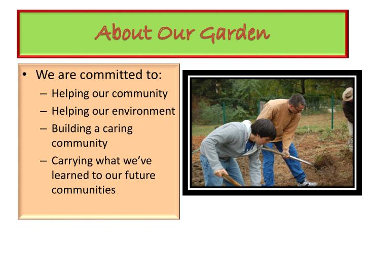 About Our Garden
