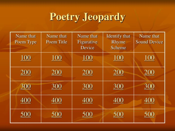 poetry jeopardy n.