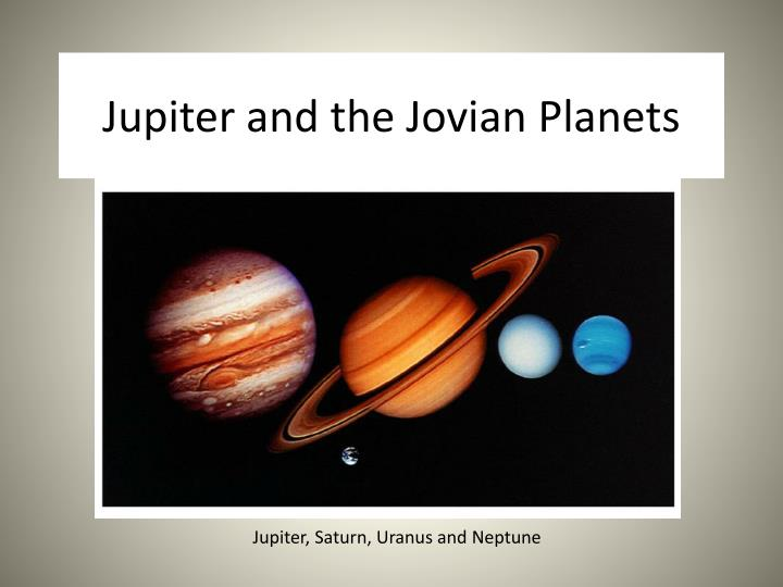 jupiter and the jovian planets n.