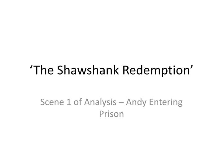 the shawshank redemption n.