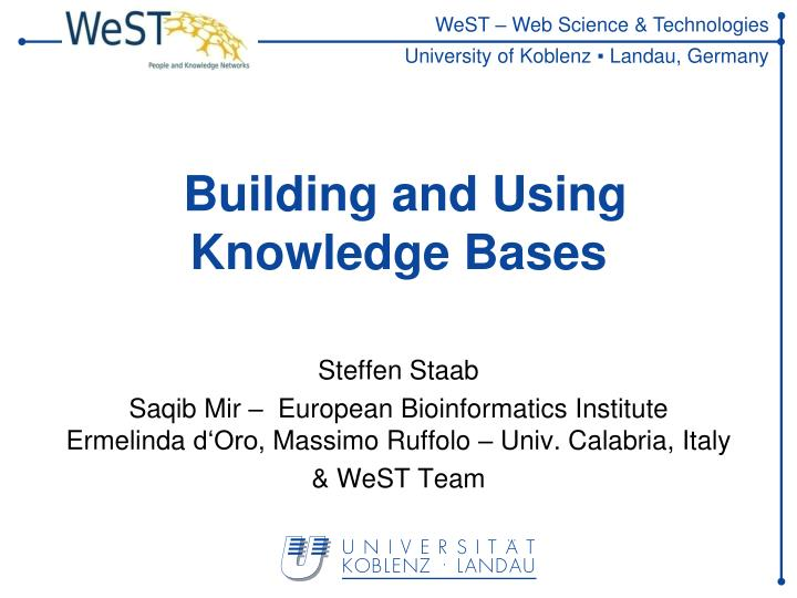 building and using knowledge bases n.