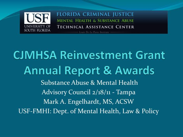 cjmhsa reinvestment grant annual report awards n.