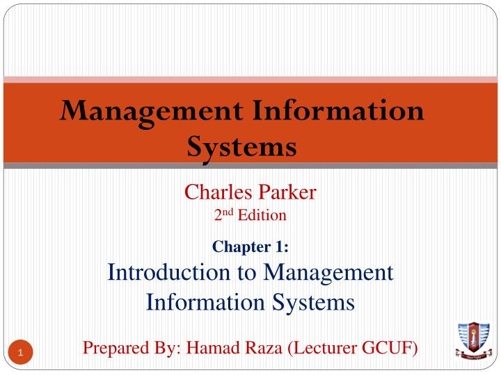 PPT - Management Information Systems PowerPoint Presentation
