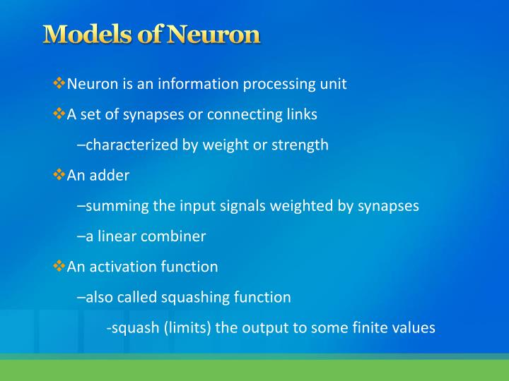 Models of Neuron