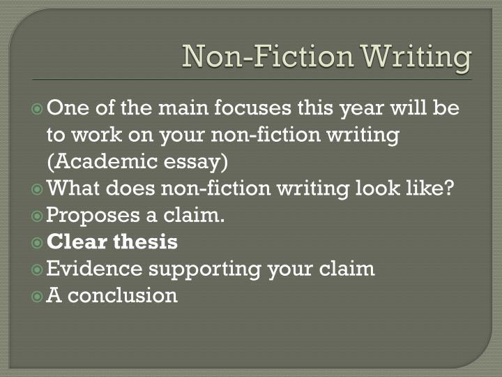 Non fiction writing