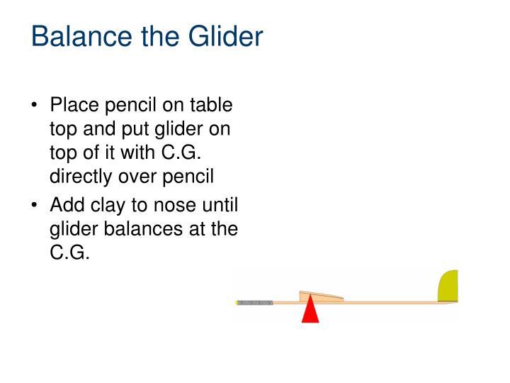 Balance the Glider