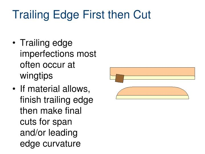 Trailing Edge First then Cut