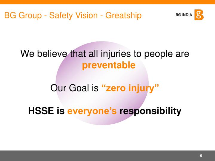 BG Group - Safety Vision - Greatship