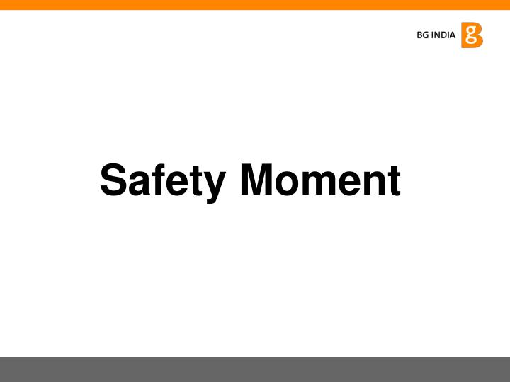 Safety Moment