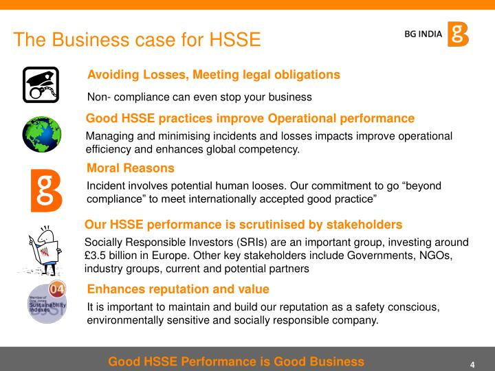The Business case for HSSE
