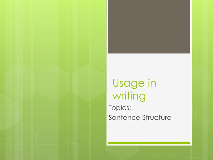 usage in writing n.