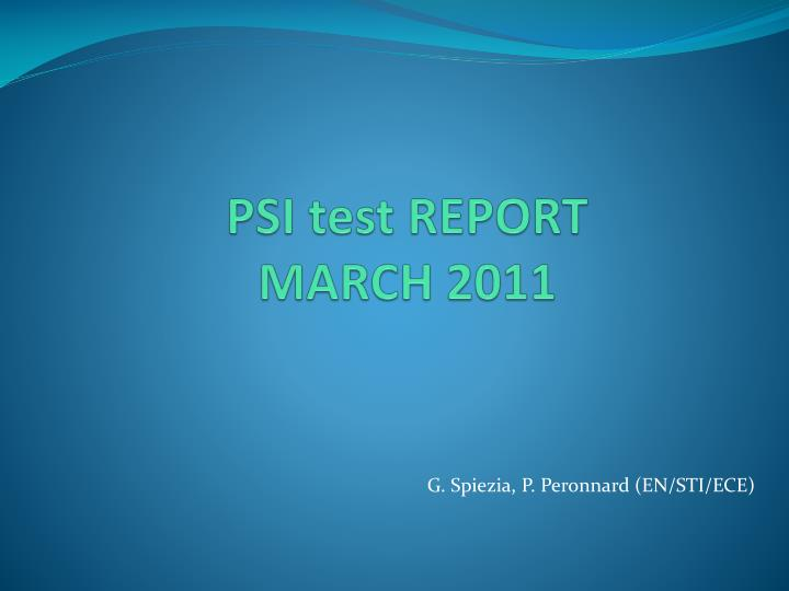 psi test report march 2011 n.