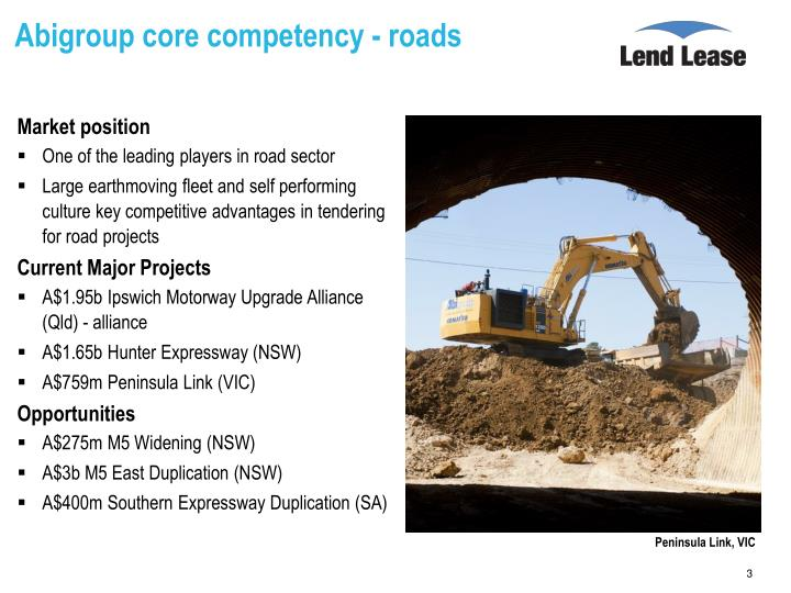 Abigroup core competency roads