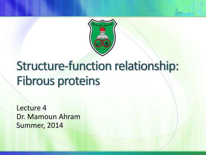 structure function relationship fibrous proteins n.