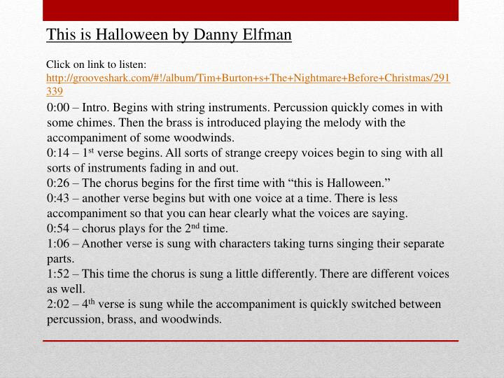 This is Halloween by Danny