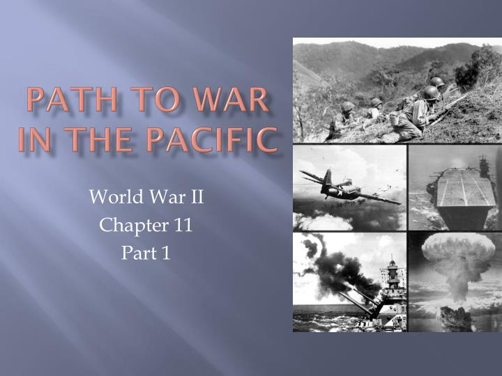 path to war in the pacific n.