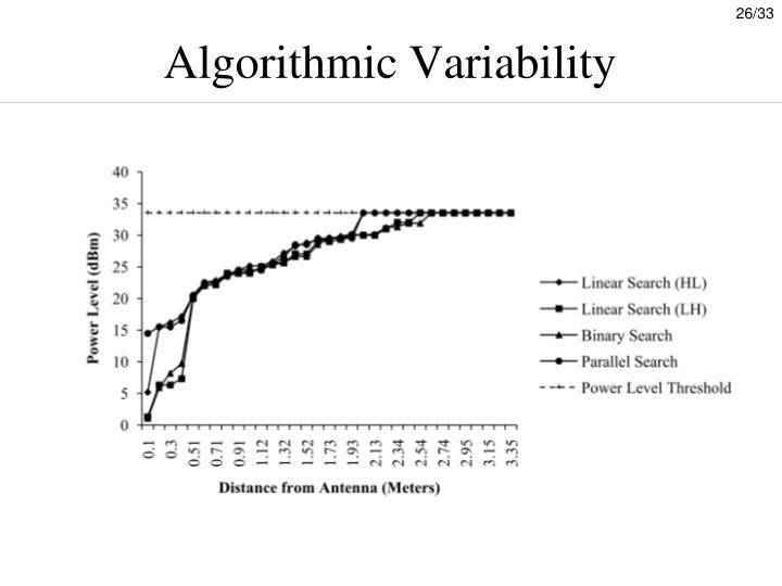 Algorithmic Variability
