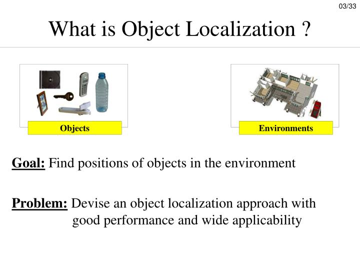 What is object localization