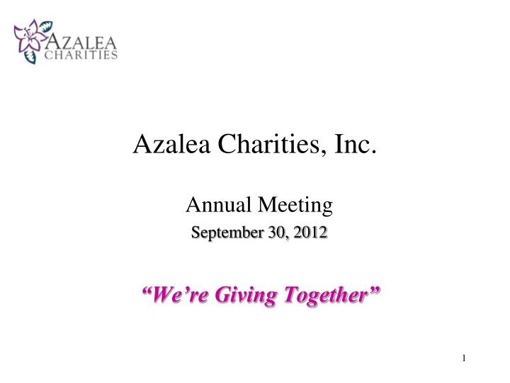 azalea charities inc n.
