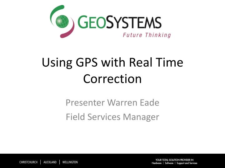 using gps with real time correction n.