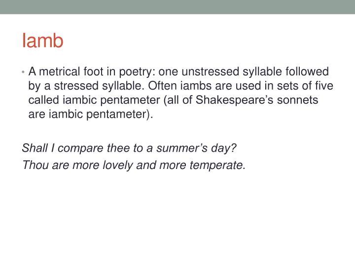 Iambic Pentameter Symbols