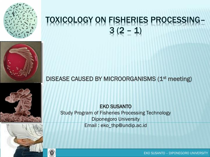 Disease caused by microorganisms 1 st meeting
