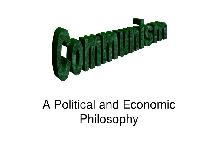 a political and economic philosophy n.