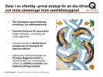 delar i en offentlig privat strategi f r att ka tillv xt och m ta utmaningar inom samh llsbyggnad