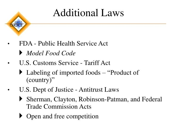 Additional Laws