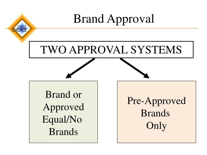 Brand Approval