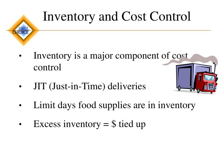 Inventory and Cost Control