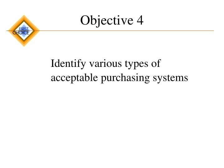 Objective 4