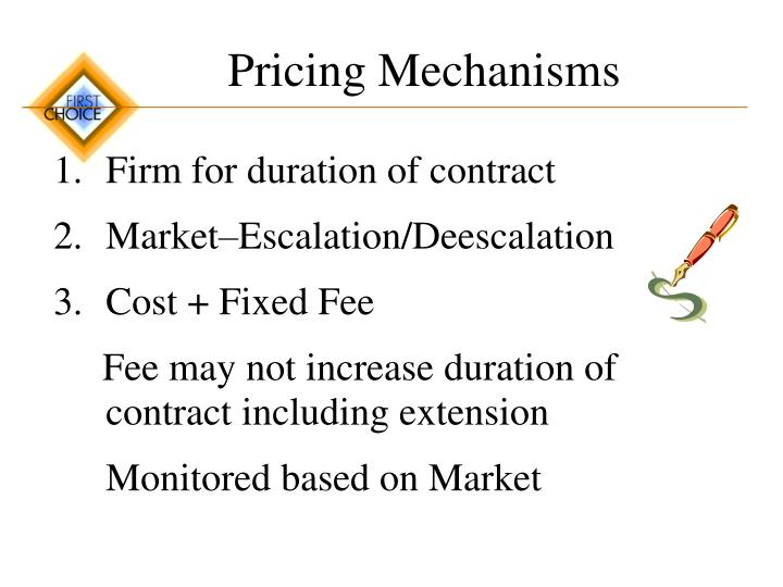 Pricing Mechanisms