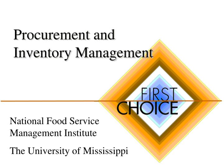 procurement and inventory management n.