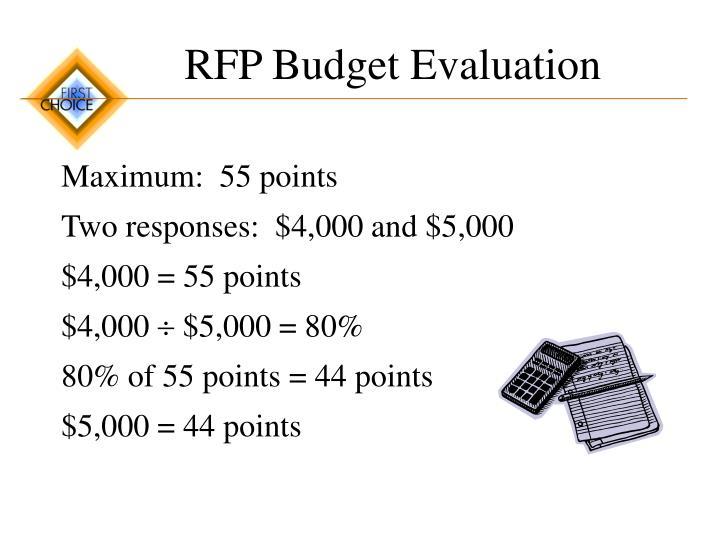 RFP Budget Evaluation