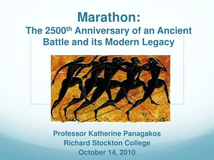 marathon the 2500 th anniversary of an ancient battle and its modern legacy n.
