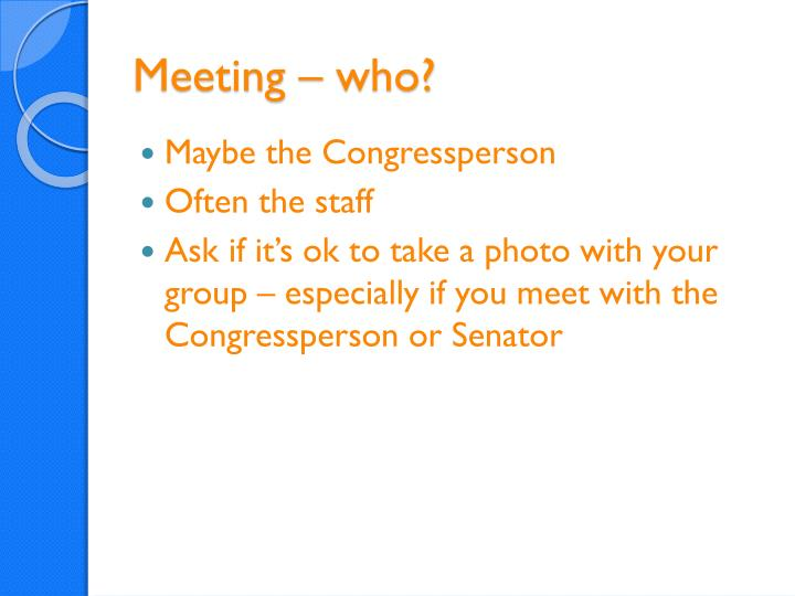 Meeting – who?