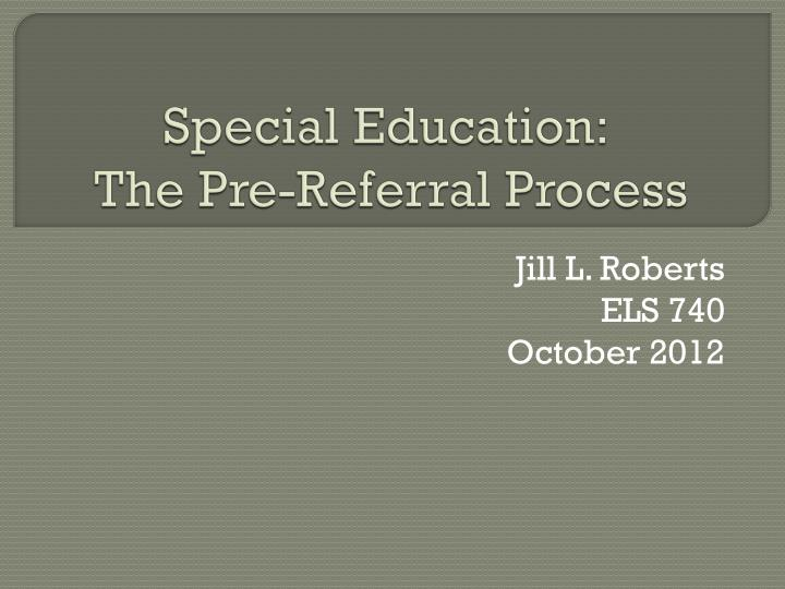 special education the pre referral process n.