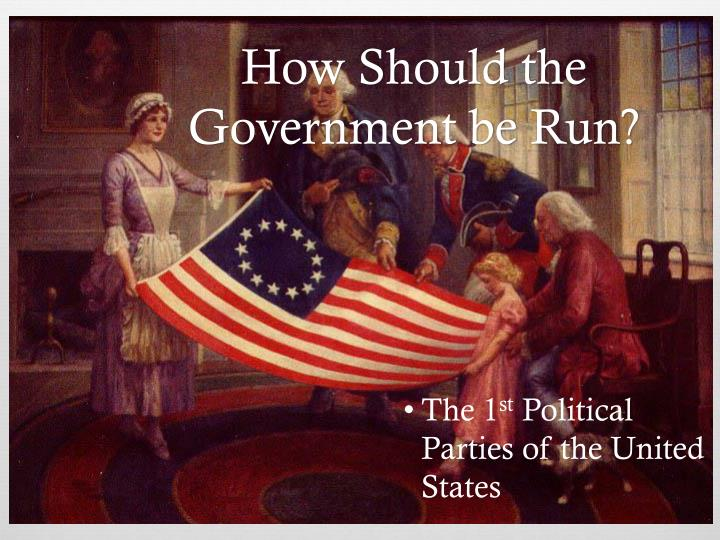 how should the government be run n.