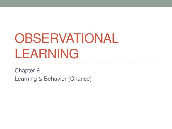 observational learning n.