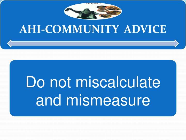 AHİ-COMMUNITY ADVICE