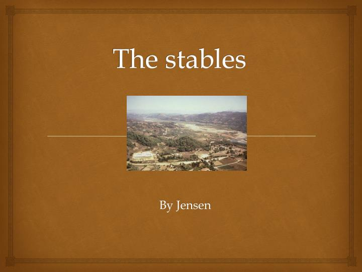 the stables n.
