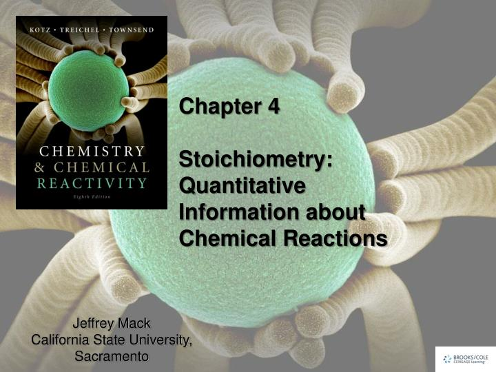 chapter 4 stoichiometry quantitative information about chemical reactions n.