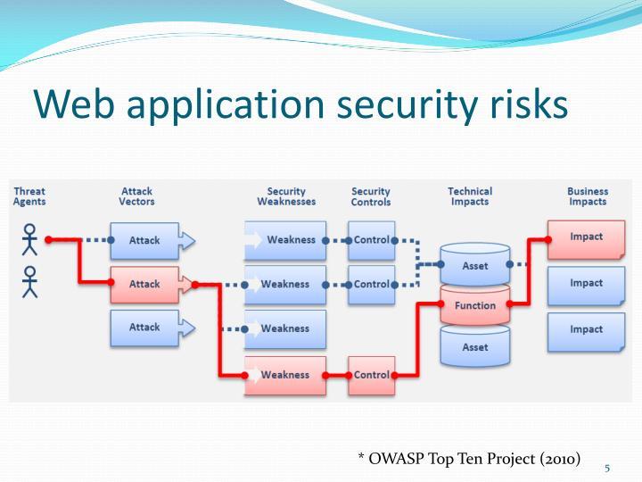 Web application security risks