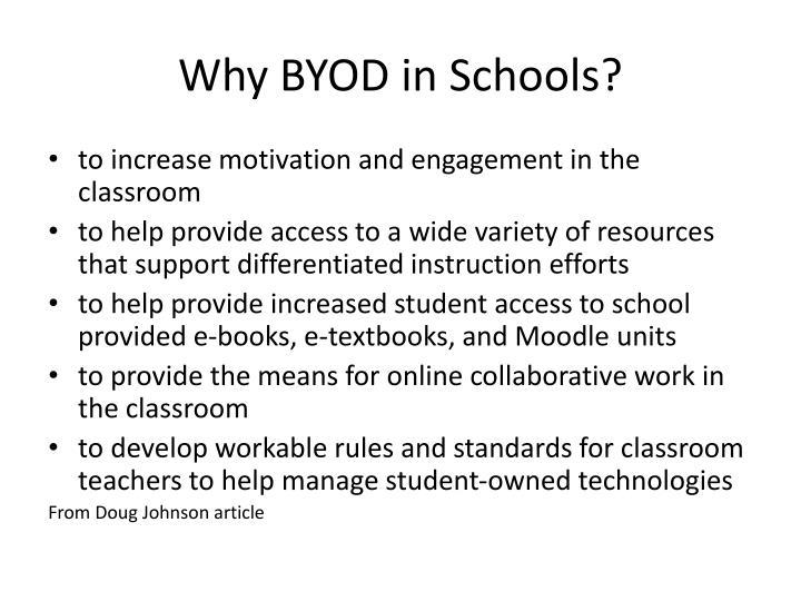 Why byod in schools