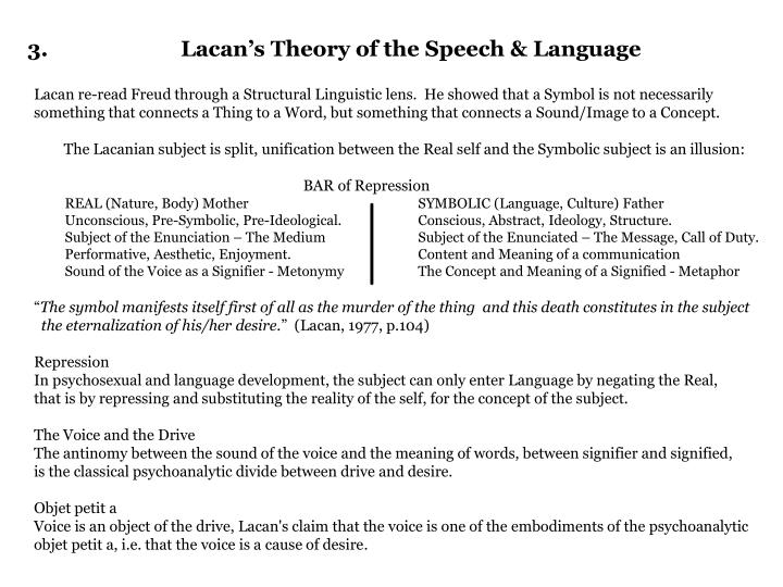 3 lacan s theory of the speech language