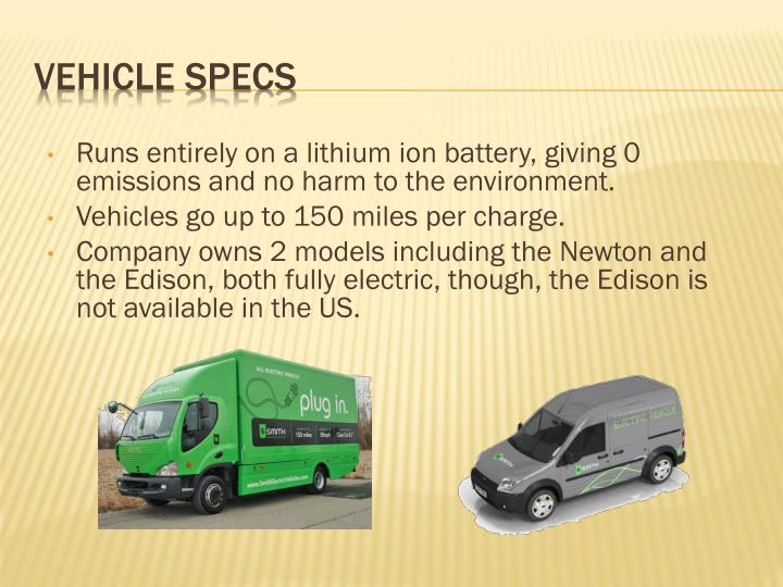 Runs entirely on a lithium ion battery, giving 0 emissions and no harm to the environment.